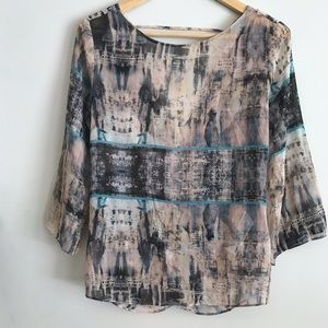 Forever21 Contemporary Abstract Draped Back Blouse
